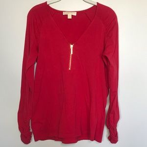 MICHAEL KORS Red Blouse long Sleeve Size M